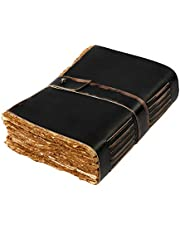 Vintage Leather Journal - 288 Antique Deckle Edge Pages 8 inches X 6 inches – Writing Journal Notebooks Notepad for Women – Men - Book of Shadows