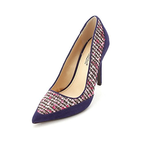Closed pink Classic Toe ShoeDazzle Pumps Cobi Womens Navy q0xZwpERw