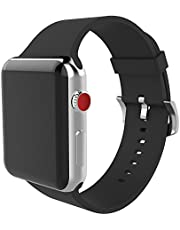 BMBEAR Sports Bands Compatible with Apple Watch Band 38mm 40mm Soft Silicone Replacement iWatch Strap for Apple Watch Series 5 Series 4 Series 3 Series 2 Series 1