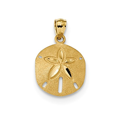 ICE CARATS 14k Yellow Gold Sand Dollar Sea Star Starfish Pendant Charm Necklace Shore Shell Fine Jewelry Gift Set For Women Heart by ICE CARATS (Image #1)