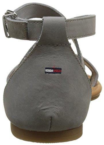Plateado Tommy Mujer Sandal Pulsera silver Para 000 Con Flat Sandalia Metallic Jeans zrwgq4za