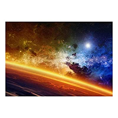 Majestic Picture, Made With Love, Bright Atmosphere and Colorful View of Galaxy Wall Mural