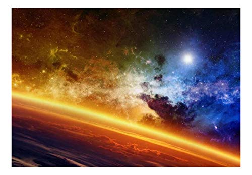 Bright Atmosphere and Colorful View of Galaxy Wall Mural