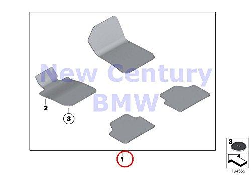BMW Genuine Floor Mats Velours Set Of Floor Mats Velours Bla