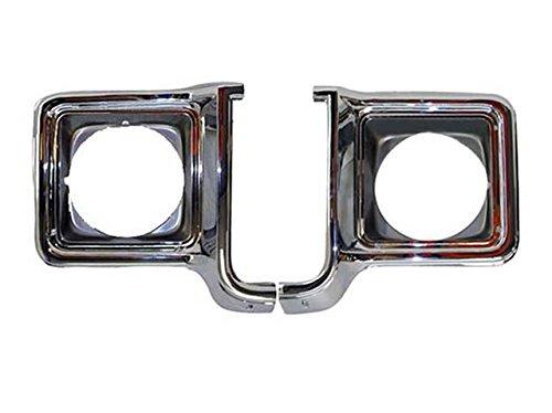 Suburban Headlight Door Chrome Round Set=Lh /& Rh Bundle 73-78 Chevy Gmc Pickup