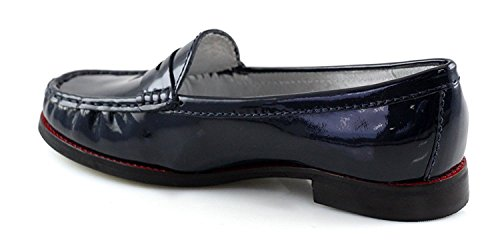 Marc Joseph NY Women's Fashion Shoes East Village Navy Patent Leather Penny Loafer Size 9 (More Colors