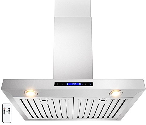 GOLDEN VANTAGE 30″ Wall Mount Stainless Steel Range Hood With Gas Sensor & Remote GV-Z01-30