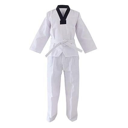 Yiliankeji Dobok Taekwondo Kimono Uniforme Traje - Unisex ...