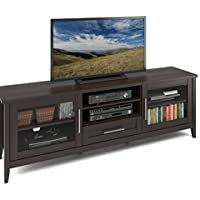 CorLiving TJK-684-B Jackson Extra Wide TV Bench, Espresso