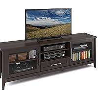 CorLiving TJK-684-B Jackson Extra Wide TV Bench, Espresso