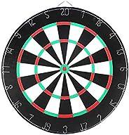 Blingbin 17inch Dart Board Durable Practical Double Sides Meta Mark Hanging Dart Target