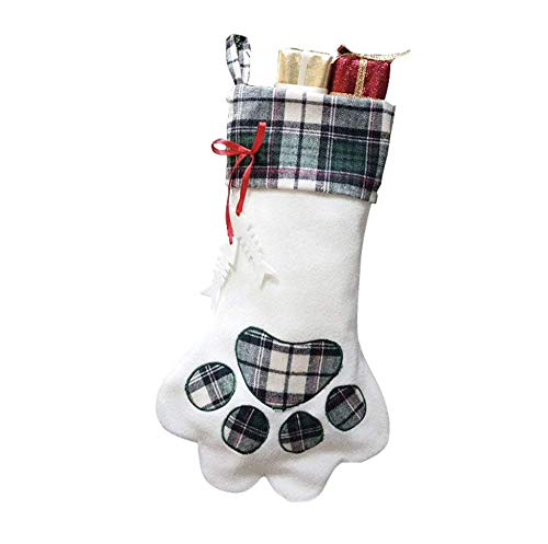Santa Paws Christmas Stockings for Your Fur Baby. Plush, Large Pet Christmas Stockings for Your Dogs and Cats - Cat Plush Stocking