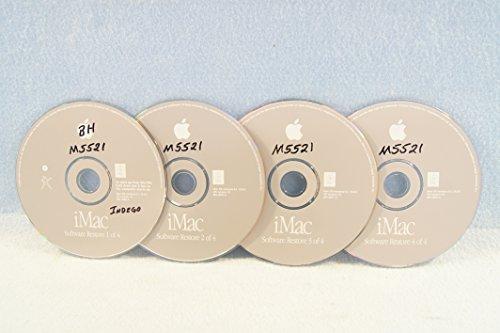 Price comparison product image iMac Software Restore 4 Disc Set: Genuine Macintosh Mac OS Versions 9.1