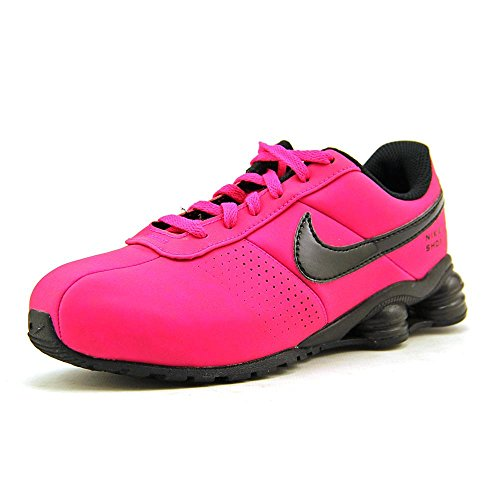 Nike Youth Girls Size 3 Big Kids Shox Deliver Sneakers New, Pink/Black 517219-600 3y Black Pink Nike Shox