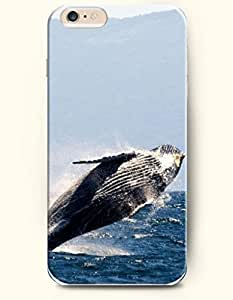 iPhone 6 Case,iPhone 6 (4.7) Hard Case **NEW** Case with the Design of Whale Jumping out of Deep Sea - ECO-Friendly Packaging - Case for iPhone iPhone 6 (4.7) (2014) Verizon, AT&T Sprint, T-mobile