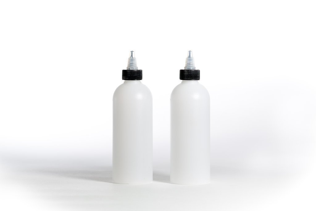 Empty Plastic dosing Squeezer bottles (pack of 2 bottles) drizzlers, sauces and multi purpose uses