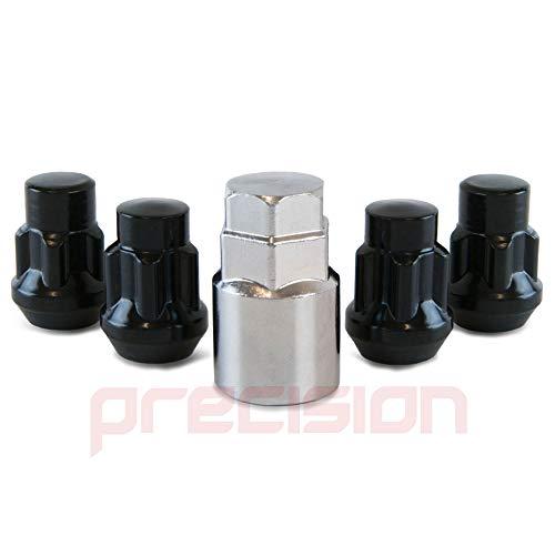 N11B626 Black Locking Wheel Nuts and Key for Aftermarket Land Ŕover Freelander Alloys Part No