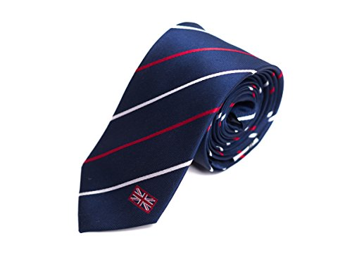 United Kingdom Tie, 100% Silk, Skinny Width 2.5