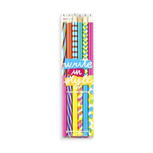 Ooly Write In Style Graphite Pencils, Set of 6 - Riso Patterns ()