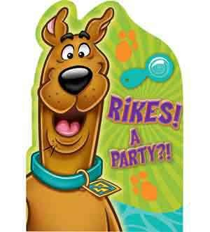 Scooby Doo Post Card Invite [Contains 4 Manufacturer Retail Unit(s) Per Amazon Combined Package Sales Unit] - SKU# (Scooby Doo Party Invitations)
