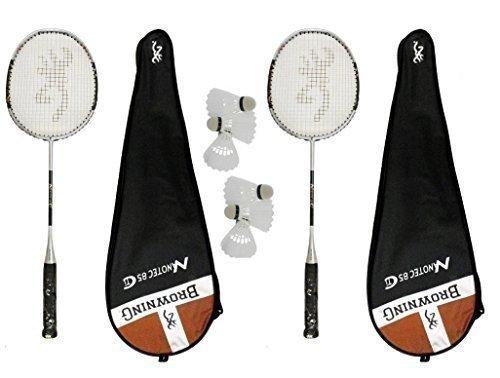 2 x Browning Nanotec CTi 85 Badminton Rackets + 6 Carlton Shuttles