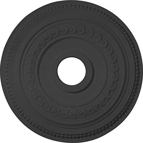Ekena Millwork CM18OL1BLF Oldham Ceiling Medallion, Jet Black