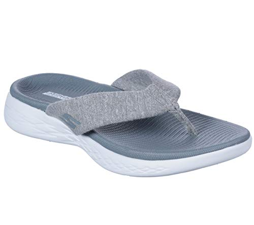 Skechers 600 Para Gris Mujer go Chanclas On the zwqvrg7O6z