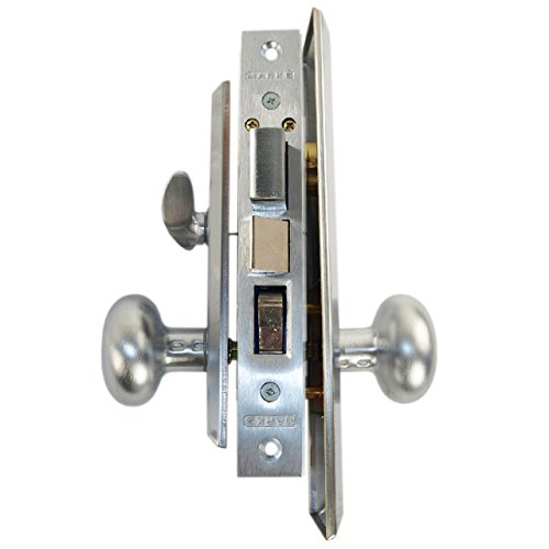 Marks Metro 114A/26D Satin Chrome Mortise Entry, Thru Bolted, Lockset, Lock Set (Right Hand)