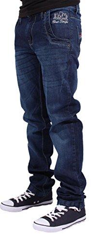 Blue Dark Uomo Stripe Jeans Straight Pq07BP