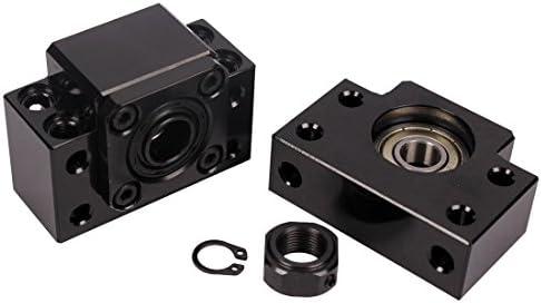 [スポンサー プロダクト]CNC 側角 BK/BF12 サポートユニット 固定側 支持側 直動部品 メカニカル部品 CNCルーター部品用RM / SFU1605 1610ボールねじ1604ボールねじ