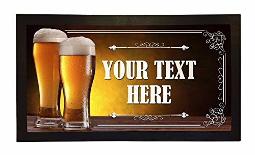 Bar Runner Your Text Here Lager Pint Drip Spill Mat Personalized Bar Gifts by Bang Tidy Clothing