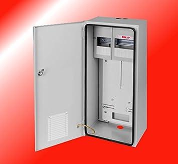 Contador de armario resistente al agua caja de fusibles de distribución distribuidor de corriente contador de corriente 1 x 3 fases contador de 11 unidades: Amazon.es: Bricolaje y herramientas