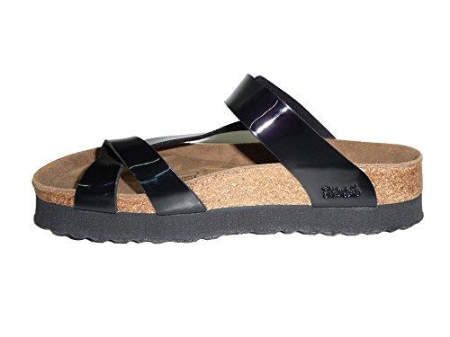 BIRKENSTOCK BIRKIS LENNOX 534591 Zapatillas para mujer, diseño de chancla con flor Sandalias plateau color negro negro
