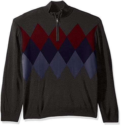 Dockers Men's Soft Acrylic Quarter Zip Sweater, Steelhead Small -