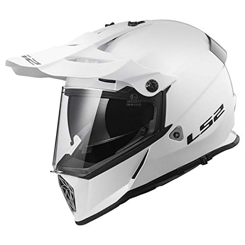 LS2 Helmets Motorcycle & Powersports Helmet's Off-Road Style Adventure Pioneer V2 (White, X-Large)