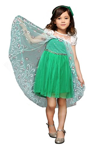 Pettigirl Girls' Princess Elsa Fancy Dress Costume 4Y Medium -