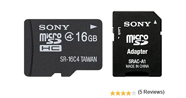 Sony SR16A4 - Tarjeta MicroSD de 16 GB (Clase 4, Adaptador SD ...