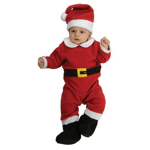 Rubie's Fleece Santa Costume, Infant ()