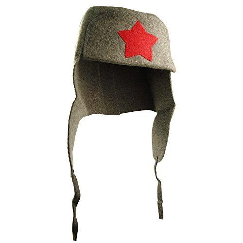 'Cappello da sauna Ushanka con stella in feltro per sauna Cappello per sauna Compar