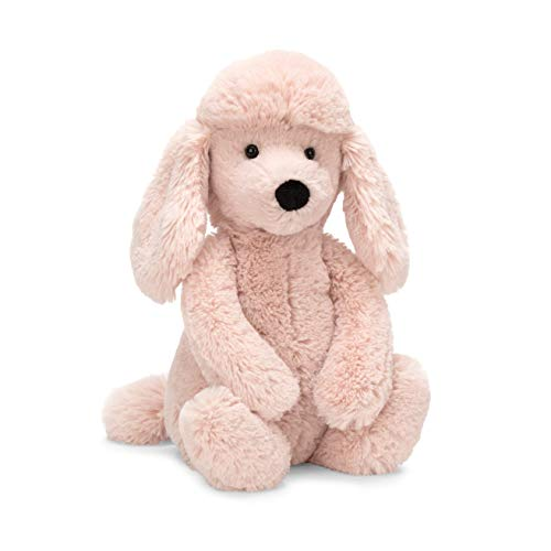 (Jellycat Bashful Blush Poodle Stuffed Animal, Medium, 12 inches)