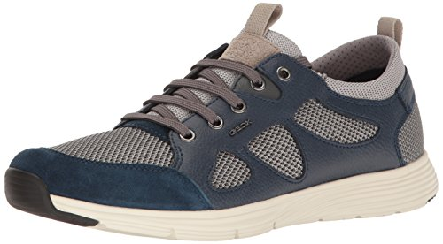 Geox Mens M Snapish 1 Fashion Sneaker Rock / Dark Royal