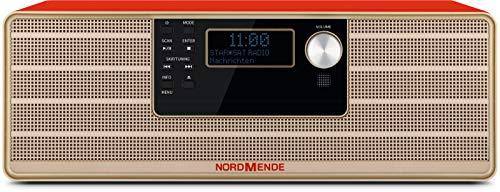 Nordmende Transita 320 Hoogwaardig stereo microsysteem met cd-speler, Bluetooth, DAB+ en FM-ontvangst, Rood