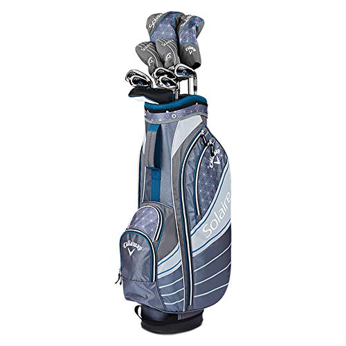 Callaway Golf 2018 Women's Solaire Complete 8 Piece Package Set (Blue, Right Hand)