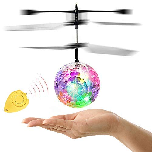 RC Flying Ball,Flying Ball Toys for Kids,Infrared Induction Helicopter Drone with Colorful Shinning LED Light and Remote Controller for Indoor and Outdoor GamesBest Gifts for Girls and Boys