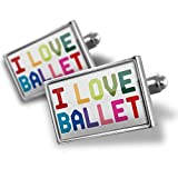 Cufflinks I Love Ballet,Colorful - Neonblond