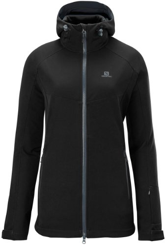 Salomon Snow Skis - Salomon Women's Snow Flirt 3:1 Jacket, Black, Medium