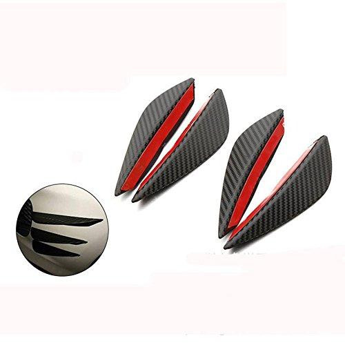 Sedeta/® 1Set//4Pcs Car Auto Fit Front Bumper Lip Splitter Fins Body Spoiler Canard Chin