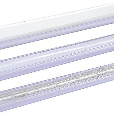 "Delight 5pcs 39 3/8"" x 1/2"" Clear PVC Channel Mounting Holder Acc for Flex LED Neon Rope Light 195"" Total Length"