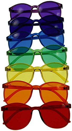 Color Therapy Glasses Round Style Set of 7 Colors [Also Available in Set of - Chakra Sunglasses