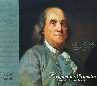 2006 P Ben Franklin Presidential Coin & Chronicles Set Dollar Uncirculated US Mint